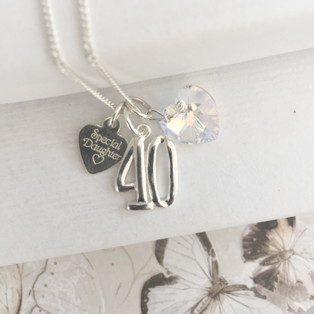 40th birthday gift necklace